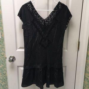 Rebecca Taylor silk lace inset mini dress sz8 NWOT